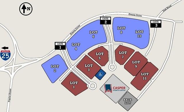 Directions & Parking | Casper Events Center on
