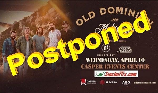 Old Dominion Postponed Casper Events Center