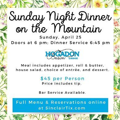 Sunday Night Dinner on the Mtn390