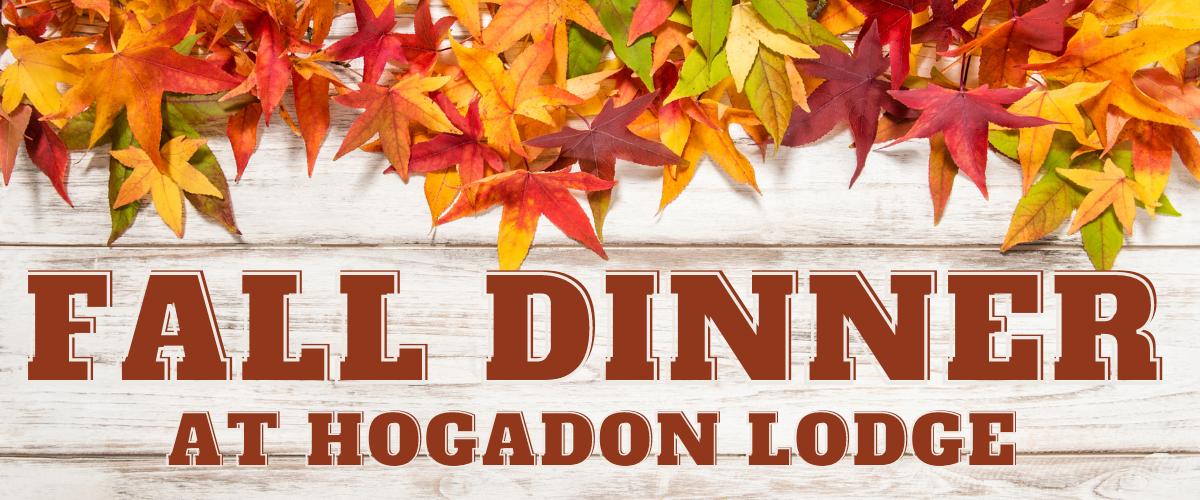 Fall Dinner at Hogadon Lodge